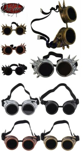 Anti Scheißen Cyber Brille Nieten Steampunk Cosplay Antik Viktorianisch Stachel
