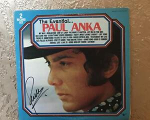 PAUL ANKA  THE ESSENTIAL PAUL ANKA   2 RECORD SET  SIGNED  VINYL  RECORD W/COA