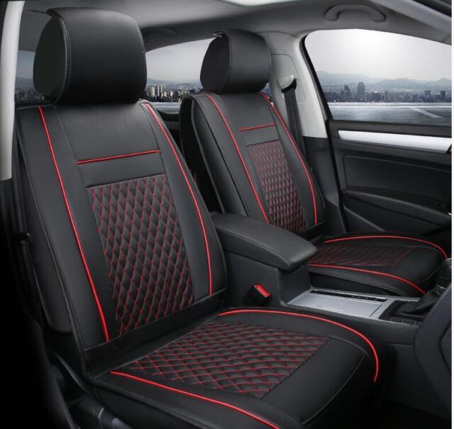 1+1 elegante Auto Coprisedile Coprisedili Nero Ecopelle rivestimenti comfort