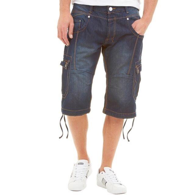 J2 Mens Yanka Denim Cargo Shorts Blue SIZE W30