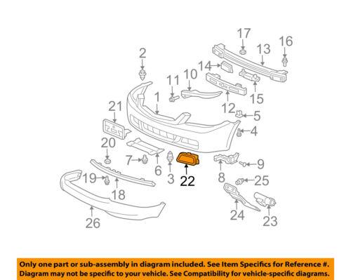 71102SEA000 Acura OEM 04-05 TSX Foglight Cover Bezel Trim Right