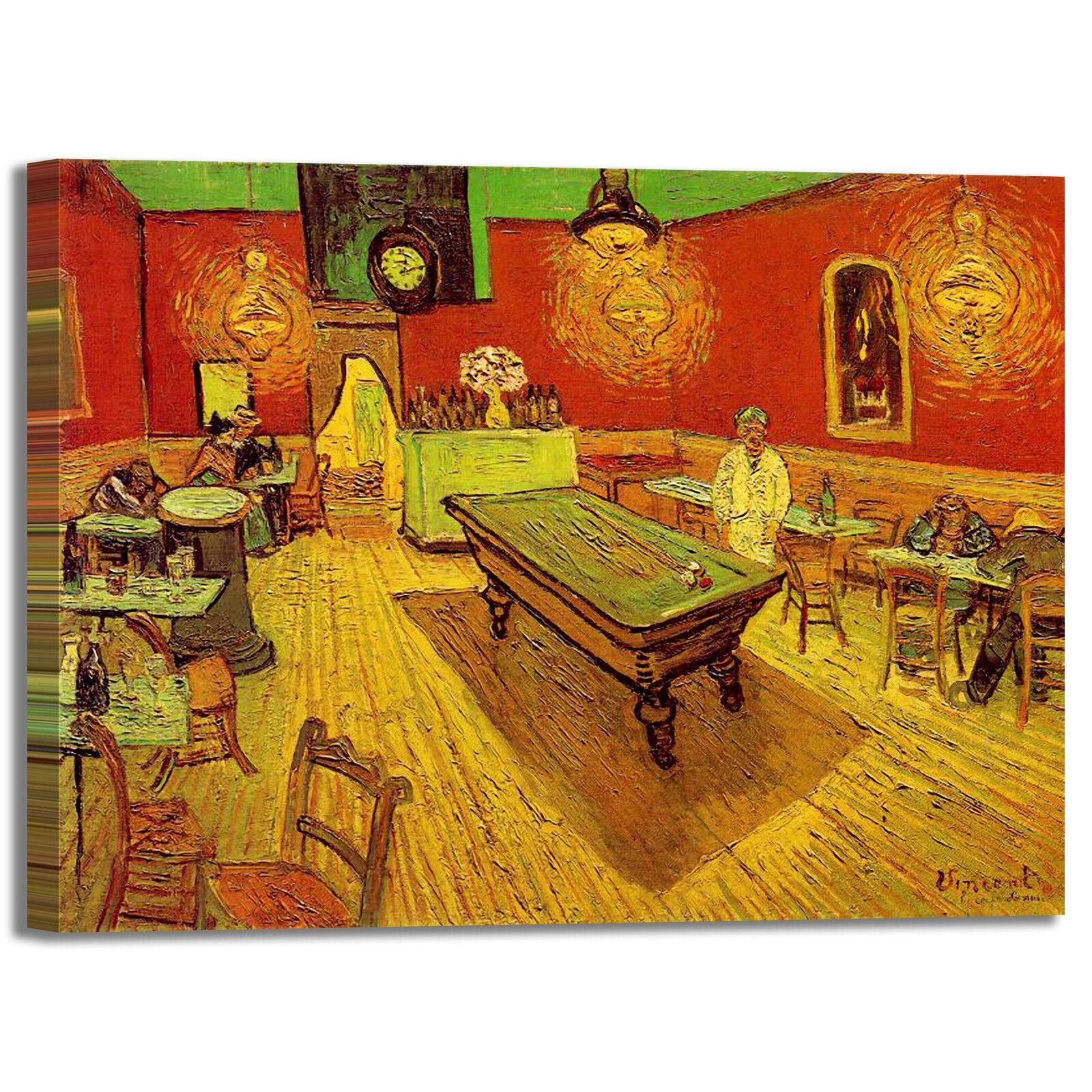 Van Gogh il caffè di notte design quadro stampa tela dipinto telaio arroto casa