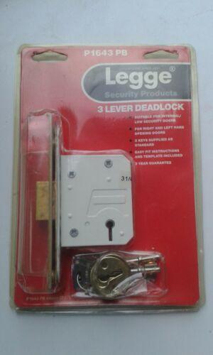 LEGGE P1643 PB 64mm 3 LEVER DEADLOCK NOS
