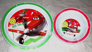 Boys Disney Planes  2 Piece Plate & Bowl  Mealtime  Set New 12 Mths +