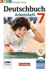 Deutschbuch Gymnasium - Hessen G8/G9: 7. Schuljahr - Arbeitsheft mit Lösungen un