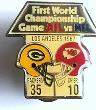 Vintage Green Bay Packers 1st Championship Game Diet Coke Pin KC Chiefs L2D