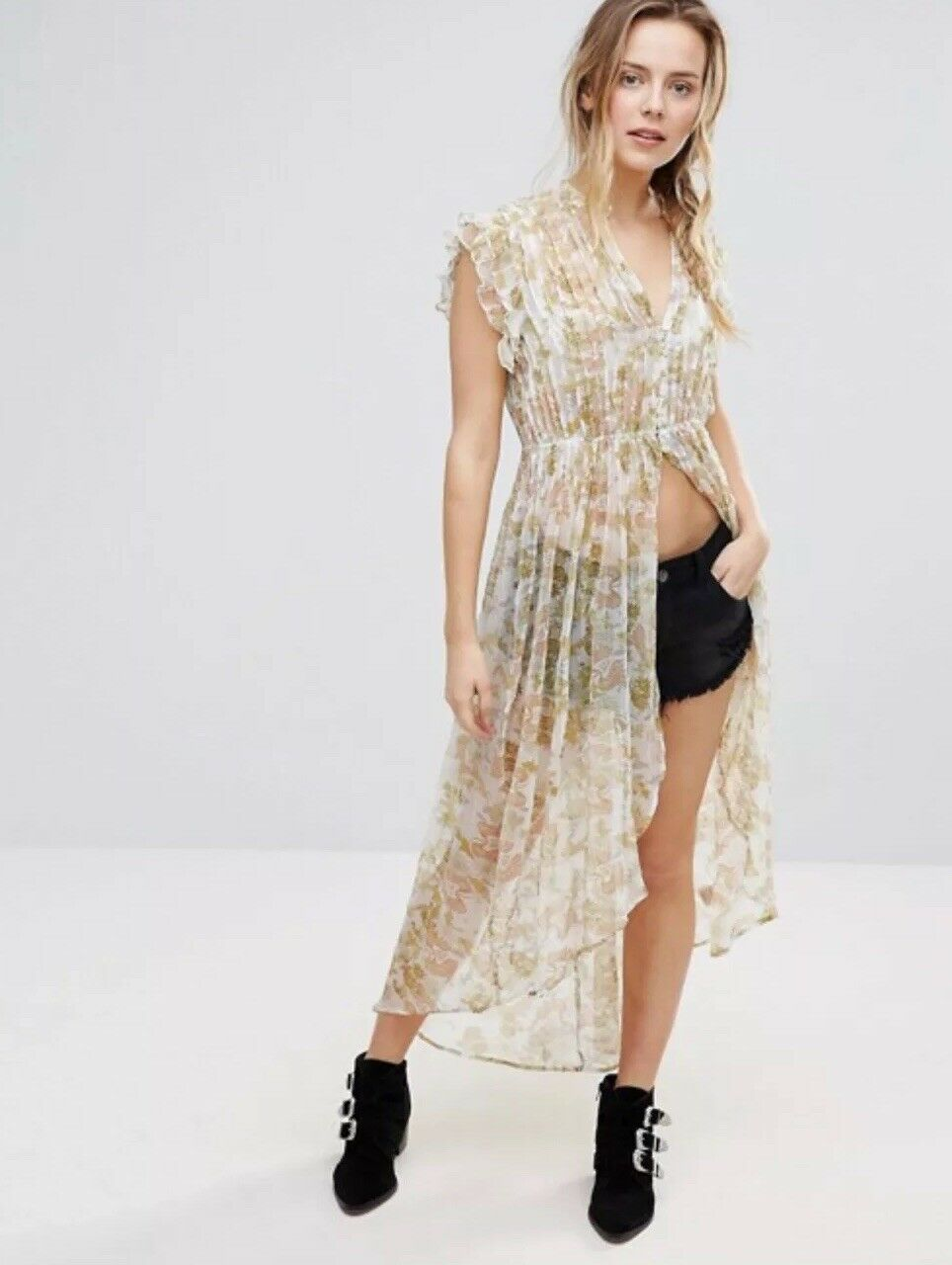 NEW Free People Lady Of Avalon Tunic Maxi Top Größe Small