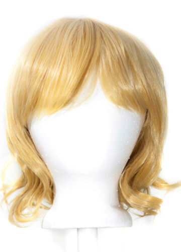 12/'/' Short Wavy Bob Butterscotch Blonde Synthetic Cosplay Wig NEW