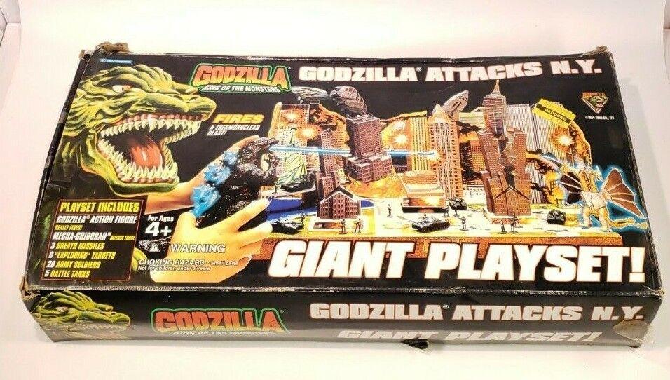 Godzilla viel NY Giant Playset 1995 Trendmasters BOX open, maar items SEALED