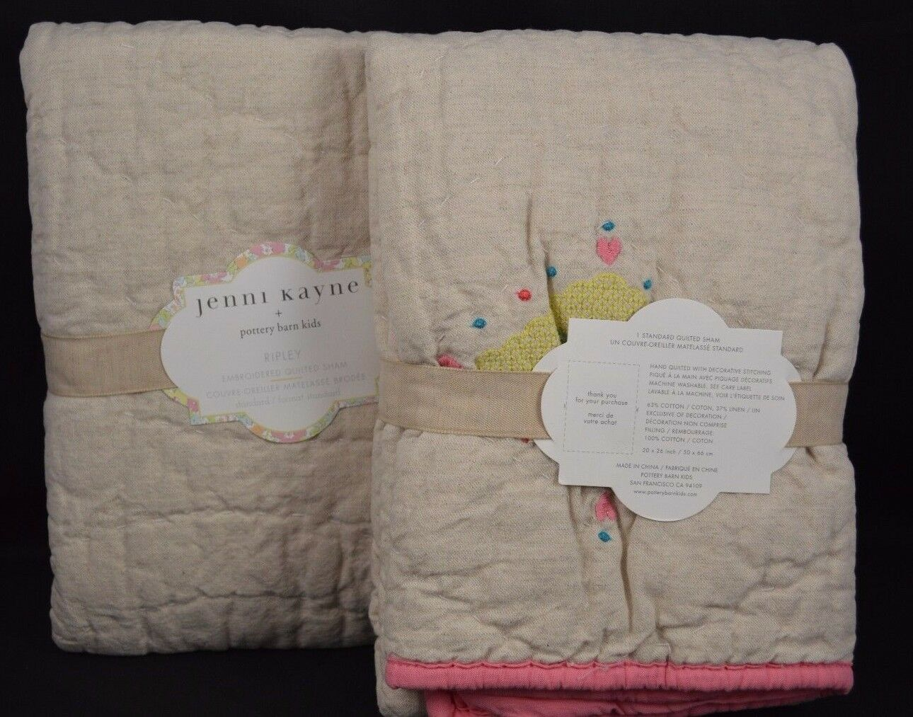 POTTERY BARN Kids JENNI KAYNE Ripley Shams lin Standard sold out S 2  111