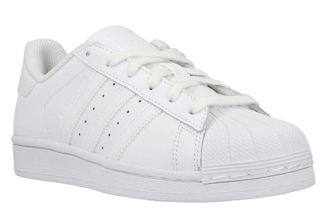 Adidas Originals Superstar Womens UK 5.5 EU 38 2 3 White Leather Trainers shoes