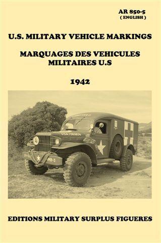 Markings vehicles military U.S Jeep Dodge GMC SCOUT HAKF marking AR 850-5