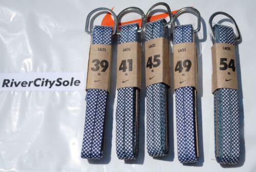 """Nike Black // White Checker Flat Shoe Laces 54/"""" 45/' 41/"""" or 39/"""" 49/"""""""