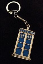 Large Tardis Keyring Chain Blue Police Box Dr Who Phone Box Charm Clip Key *UK*