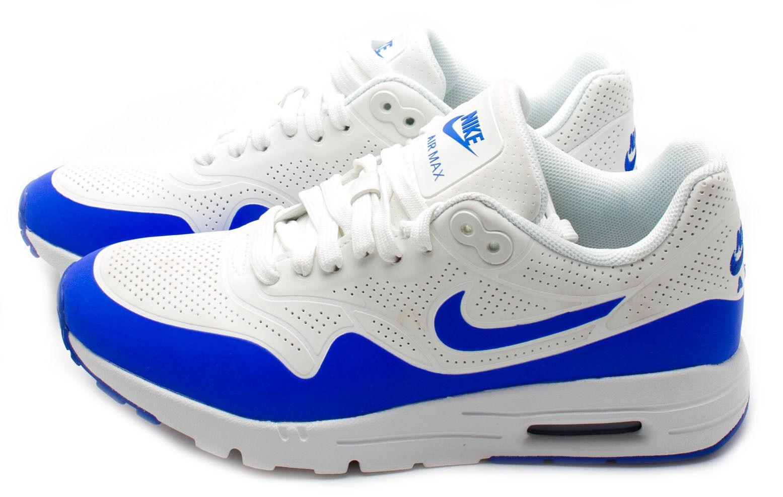 Nike Wouomo Air Max 1 Ultra Moire Running scarpe 704995-100 bianca blu sz.5.5-8.5