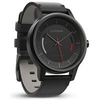 Garmin Vivomove Classic Leather Band Activity Tracker (Black )