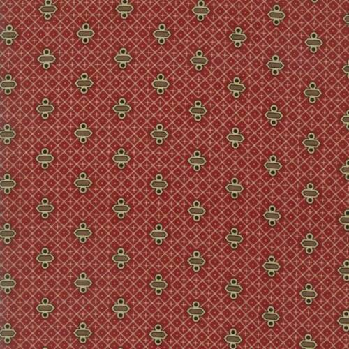 Moda RACHEL REMEMBERED Turkey Red 31547 13 Fabric By The Yard By Betsy Chutchian