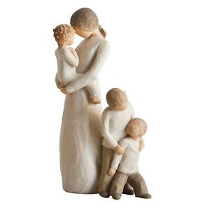 Willow-Tree-Mother-amp-Baby-Boy-or-Girl-with-Two-Sons-Figurines-NEW