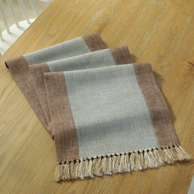Chinese Tassel Table Runner Cloth Plain Dining Cover Home Decor Tablecloth Retro