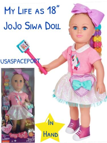 "VHTF 2018 HOT TOY Exclusive My Life as 18"" Doll JOJO Siwa Unicorn Candy Shop Set"