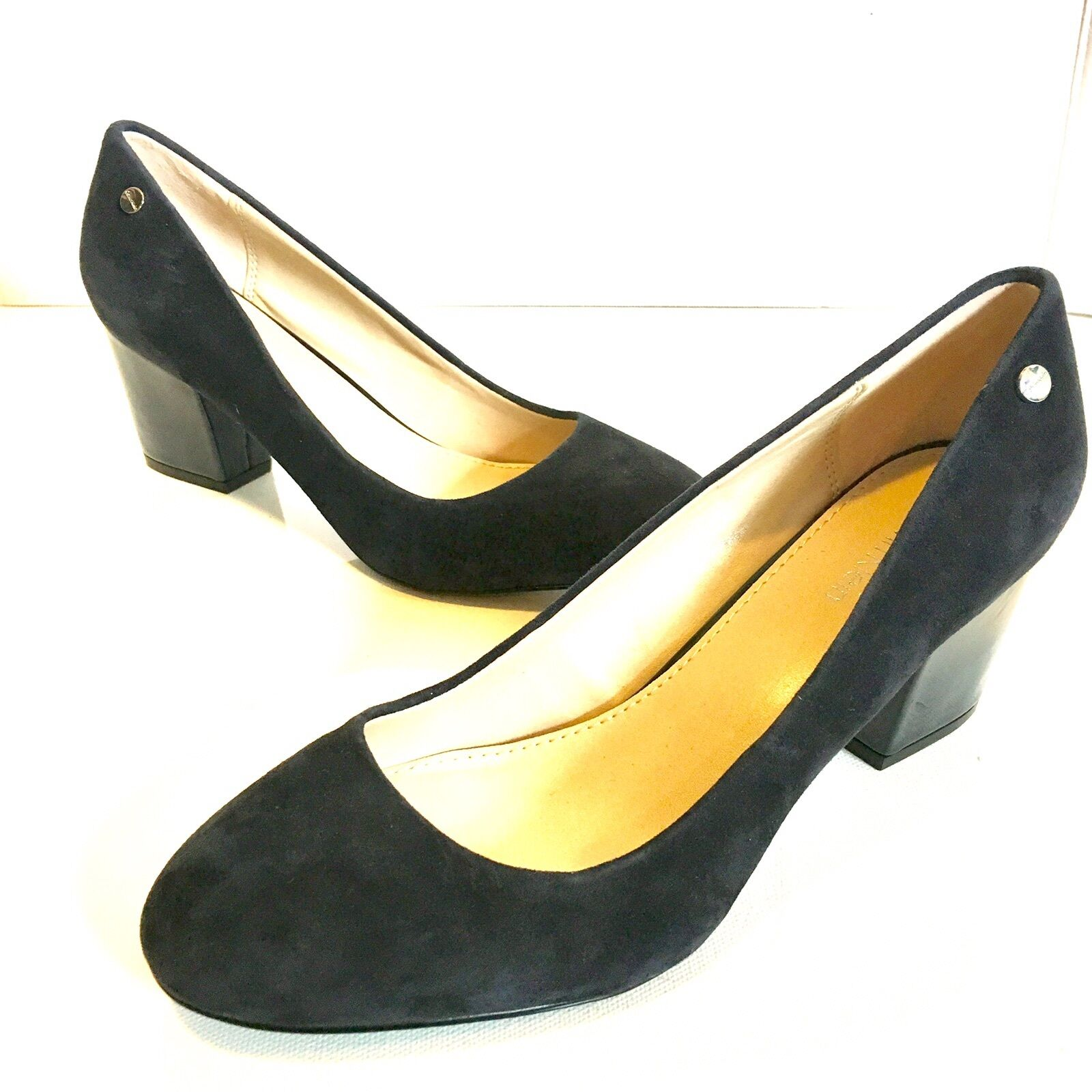 Calvin Klein Shoe Suede Dress Pump Kasey Deep Blue Womens Sz 6.5 34E9608-DNV
