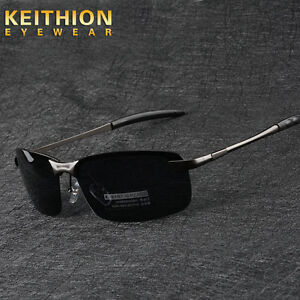 Mens-Rimless-Polarized-Sunglasses-UV400-Outdoor-Sports-Driving-Glasses-Eyewear