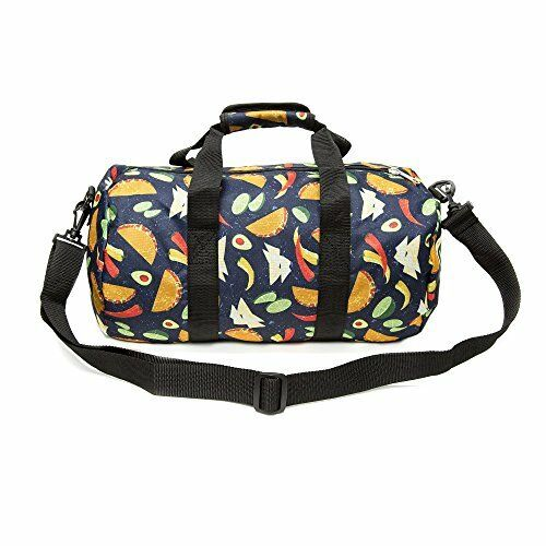 307763a140 ... NEW Everest Pattern 16 inch Round Duffel Bag Tacos One Size FREE  SHIPPING