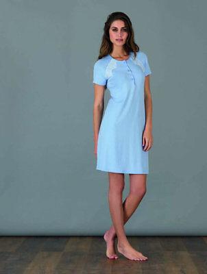 Camicia notte donna Manica lunga fresco non si stira Viscosa Linclalor 2619
