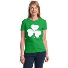 Shamrock vintage Women's T-shirt funny drinking St. Patrick's Day tee