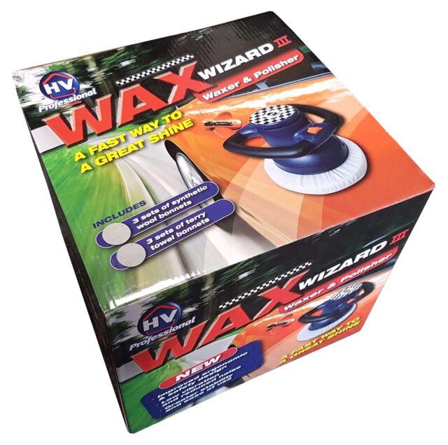 3 x Wool /& Terry Towel Bonnets Inc Orbital Waxer /& Polisher Wax Wizard III