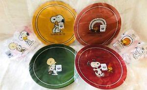 Pottery Barn Kids Peanuts Thanksgiving Plates Tumblers
