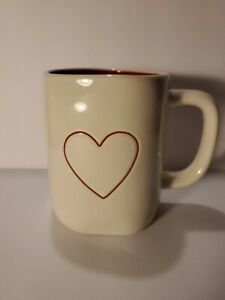 "Rae Dunn ""HEART"" Coffee Mug by Magenta 2-Sided"