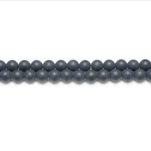 Non Magnetic Hematite Round Beads 8mm Bright Silver 45 Pcs Gemstones Crafts