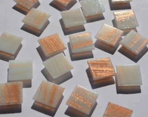Goldfäden 100 Glas Mosaiksteine mit Flimmer ca.145g Goldline1,5x1,5cm