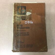 Details about  /Caterpillar D7G Powershift Tractor Parts Manual Catalog sn 65V1-65V3400