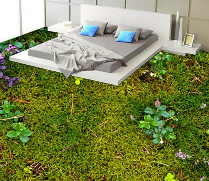 3D Green Lush Tree 1 Floor WallPaper Murals Wall Print Decal 5D AJ WALLPAPER