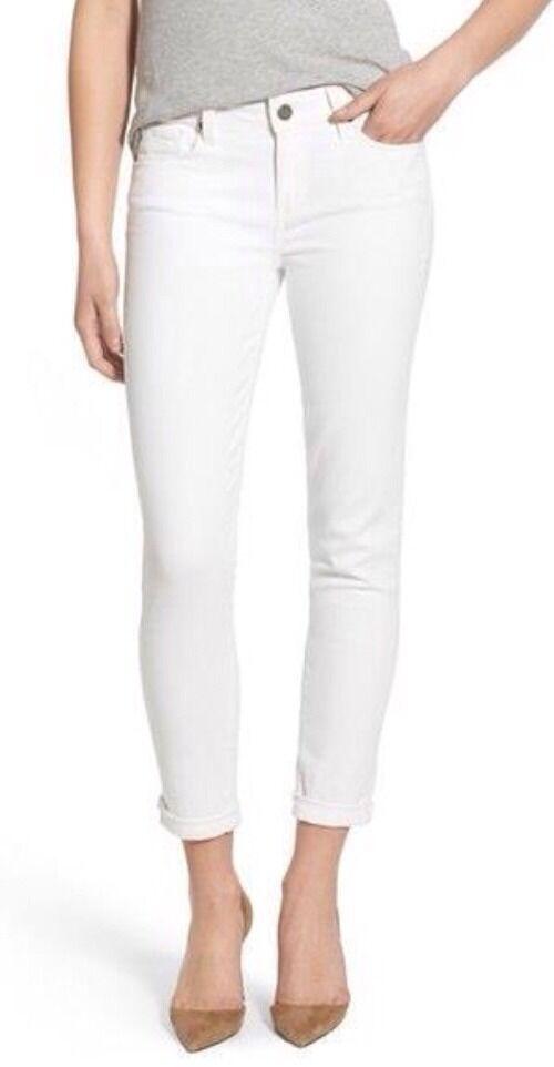 150 NWOT PAIGE DENIM 'Skyline' Crop Skinny Jeans (Optic White) Size  29   ️