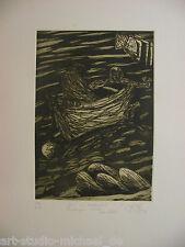 """Norddeutsche Künstler: Pit Morell: """"Bretagne"""" Radierung, 1978/79"""