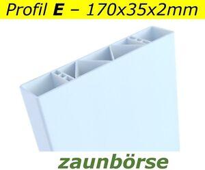 Zaunbretter-E-170x35x2mm-weiss-L-74cm-Profiware-PVC-Balkon-Vorgartenzaun-Koppel