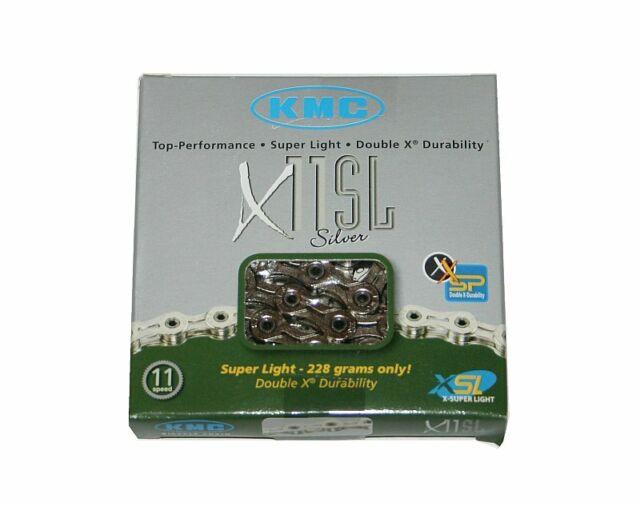 Kmc Chaîne X11SL Superlight 11-fach Argent Chaîne 11s - 114 Maillons