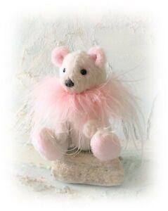 Miniature-5-034-Faux-Fur-Teddy-Bear-OOAK-Little-Artist-Boulter-Bears