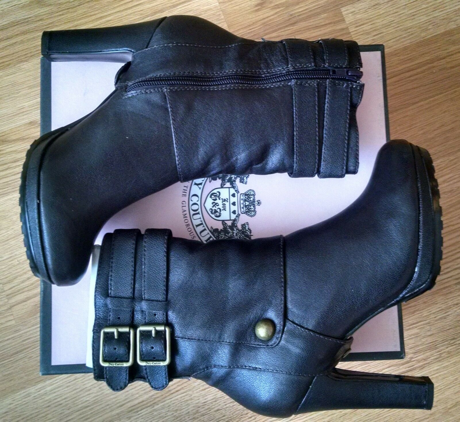 Juicy Boot Couture Cambria Buckled Ankle Boot Juicy Größe 7 PLEASE READ 6f3439