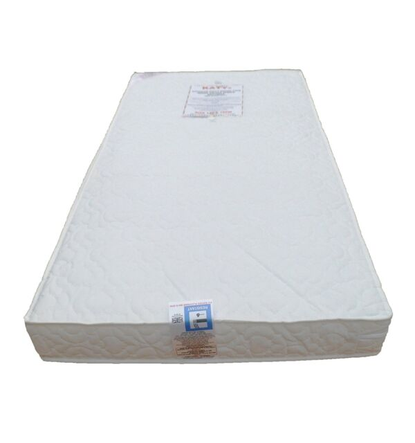 timeless design 83703 2b64c KATY® Superior Deluxe Bound Spring Cot Bed Sprung Mattress 140x70 x10cm  Thick