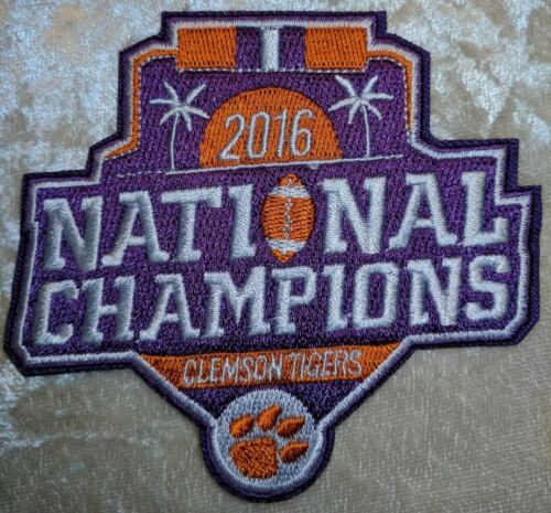 """Clemson Tigers 2016 Champions 3.5/"""" Iron On Embroidered Patch ~FREE Ship`!!"""