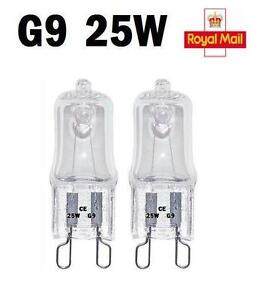 2-5-10-x-G9-Halogen-Light-Bulbs-Clear-Capsule-240V-25W-Watt-Dimmable