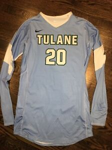 Game Worn Tulane Green Wave Volleyball Jersey Used Nike Women's #20 Size L