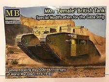 Master Box 1/72 MB72004 WW1 Female British Tank Un-Boxed Plastic Model Kit
