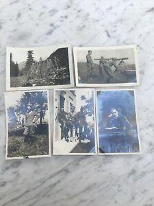LOTTO-DI-5-VECCHIE-FOTOGRAFIE-MILITARI-ALPINI-1929-OLD-PHOTOGRAPHS