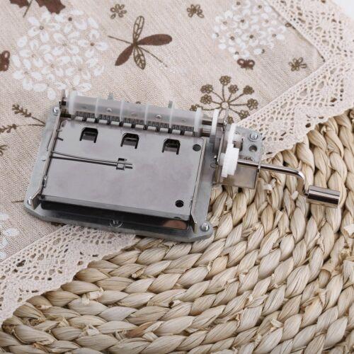 Handkurbel Spieluhr Bewegung 30Note Loch Puncher Papierstreifen DIY Your Song g0