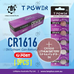 5x-CR1616-3V-Lithium-Battery-STOCK-IN-Melbourne-Button-Coin-Cell-CR-1616